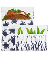 Lunchskins Reusable Bag Set Sea Turtle
