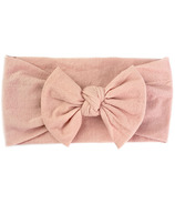 Baby Wisp Nylon Headwrap Bow Headband Dusty Rose