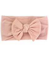 Serre-tête en nylon avec nœud rose poussière Baby Wisp