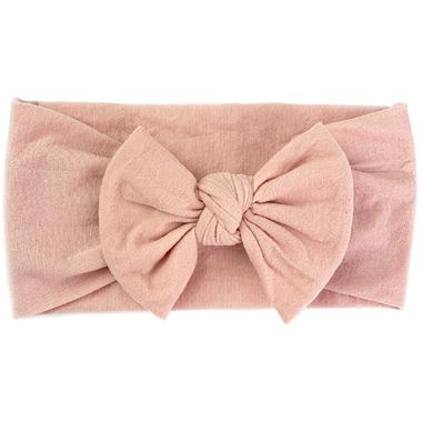 Baby Wisp Nylon Headwrap Bow Headband Dusty Rose