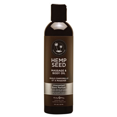 Earthly Body Hemp Seed Massage And Body Oil Unscented