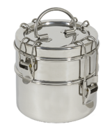 To-Go Ware 2 Tier Stainless Steel Tiffin Box Snack Size