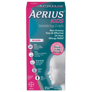 Aerius Kids Non-Drowsy Bubble Gum Allergy Relief