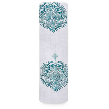 aden + anais Classic Swaddle Paisley Teal Drop