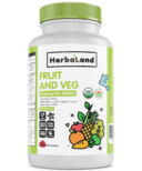 Herbaland Gummy for Adults Organic Fruit, Veg & Fiber