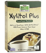 NOW Real Food Xylitol Plus Sweetener Packets