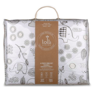 Lolli Living Crib Bedding Set Kayden Elle Elephant