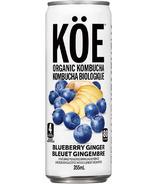KOE Organic Kombucha Blueberry Ginger