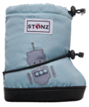Stonz Toddler Booties Robot Haze Blue