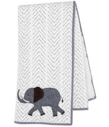 Lambs & Ivy Embroidered Safari Linen Signature Knit Blanket