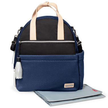 Skip Hop Nolita Neoprene Diaper Backpack Navy and Black