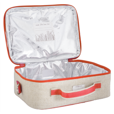 SoYoung Raw Linen Orange Giraffe Lunch Box