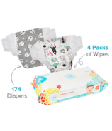The Honest Company Space Travel & Panda Print Diapers & Wipes Bundle Size 4