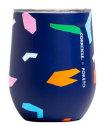 Corkcicle Poketo Stemless Confetti Blue