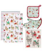 Now Designs Fa La La La Llama Holiday Kitchen Bundle