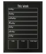 Chalkboard Chique Framed Weekly Chalkboard Planner