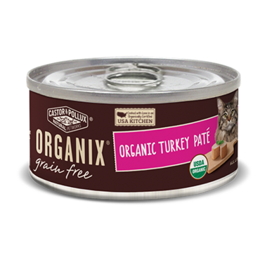 Castor & Pollux Organix Grain Free Organic Turkey Pate Cat Food