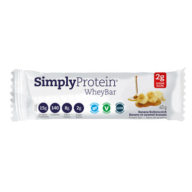 Simply Protein Whey Bars Banana Butterscotch Case