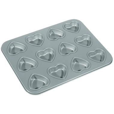 12-Cup Non-Stick Heart Mini Muffin & Cake Pan