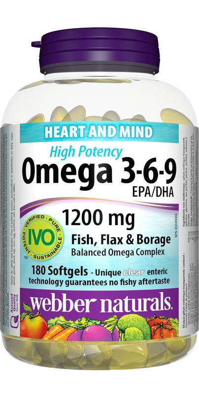 Buy Webber Naturals High Potency Omega 3 6 9 Epa Dha At Well Ca