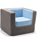 Monte Design Cubino Chair Charcoal & Blue