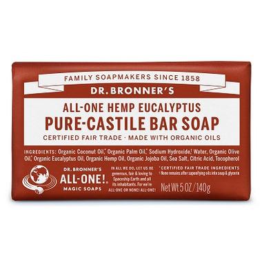Dr. Bronner\'s Pure Castile Bar Soap Eucalyptus