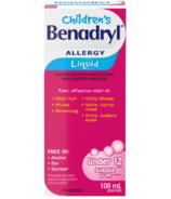 Liquide Benadryl Allergies pour enfants