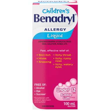Benadryl Allergy Children\'s Liquid