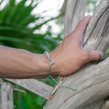 4Ocean Marine Nursery Bracelet Tan Emerald