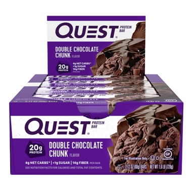 Quest Nutrition Protein Bar Double Chocolate Chunk Case