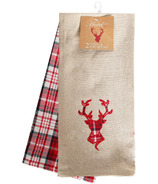 Domay Kitchen Towel Set Plaid Deer