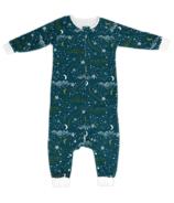 Nest Designs Organic Cotton Long Sleeve Sleep Suit Stars Blue 1.0g Tog