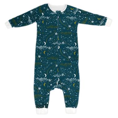 0e14714f5 Buy Nest Designs Organic Cotton Long Sleeve Sleep Suit Stars Blue ...