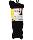TherapyPlus Mens Diabetic Crew Socks Black