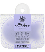 DAILY CONCEPTS All Natural Baby Fish Konjac Sponge Lavender