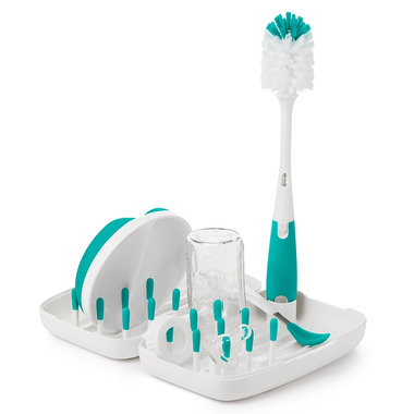 OXO Tot On-The-Go Drying Rack with Bottle Brush Teal