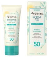 Aveeno Face Mineral Sunscreen Lotion SPF50