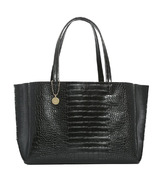 ela Large Tote Croc Effect Black