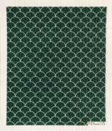 Ten & Co. Swedish Sponge Cloth Scallop Evergreen