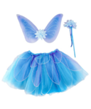 Great Pretenders Fancy Flutter Skirt with Wings and Wand Blue