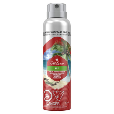 Old Spice Invisible Spray Antiperspirant And Deodorant for Men Fresher Fiji