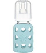 Lifefactory Glass Baby Bottle with Silicone Sleeve Mint