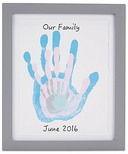 Pearhead Grey Family Handprint Frame