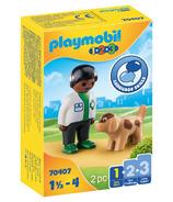 Playmobil 1.2.3 Vet with Dog
