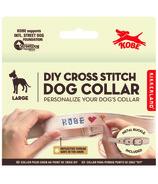 Kikkerland Kobe Cross Stitch Dog Collar Large