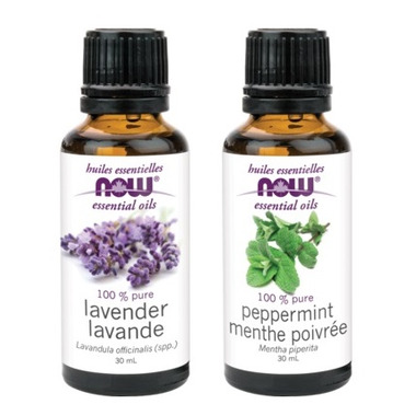NOW Foods Lavender + Peppermint Essential Oils Set