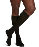Sigvaris Sea Island Cotton Compression Socks Mens Black