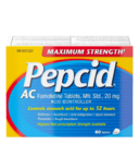Pepcid AC Maximum Strength Tablets Acid Reducer for Heartburn 80Ct
