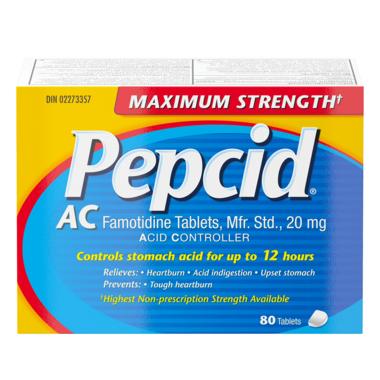 Pepcid AC Maximum Strength Tablets Acid Reducer for Heartburn