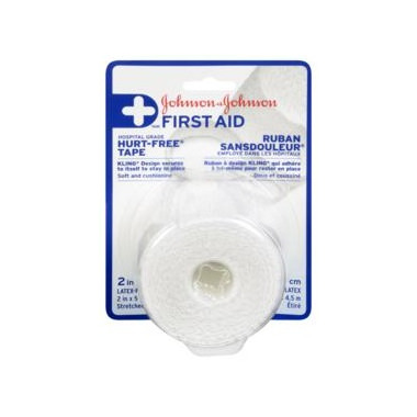 Johnson & Johnson First Aid Hurt-Free Cloth Tape